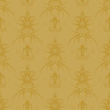 Gothic repeat gold Royalty Free Stock Photography