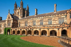 Gothic Revival Architecture at Sydney University, Australia. stock photography