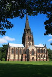 Gothic revival chapel. Clumber Park is a country park, in part designed by Capability Brown, in the Dukeries near Worksop in Nottinghamshire, England Royalty Free Stock Images