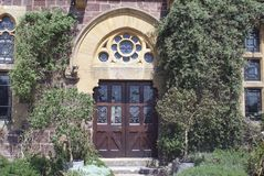 Gothic Revival entrance Stock Photography