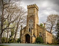 Gothic Revival Espiscopal Church Western virginia. An example of a castle or Gothic revival church architecture Royalty Free Stock Photos