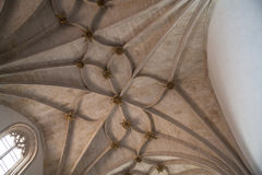 Gothic ribbed vaulting Royalty Free Stock Photo