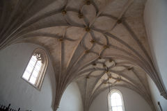 Gothic ribbed vaulting Stock Image