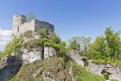 Gothic rocky castles in Poland. Stock Photos