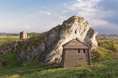 Gothic rocky castles in Poland. Royalty Free Stock Image