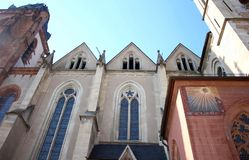 Gothic, Romanesque, and Baroque Architecture in the Wetzlarer Dom Cathedral in Wetzlar, Germany. The Cathedral in Wetzlar is located in the city`s old town or ` Royalty Free Stock Photo