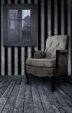Gothic Room. A dark room with a comfy chair as a gothic background for artists Stock Image