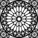 Gothic rose window Stock Image