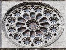 Gothic rose window of Chartes cathedral, France. A gothic rose window of Chartes cathedral, France Royalty Free Stock Photos