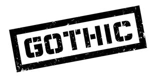Gothic rubber stamp Stock Image