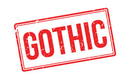 Gothic rubber stamp Royalty Free Stock Images