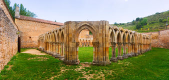 Gothic ruined cloister of San Juan de Duero Royalty Free Stock Photography