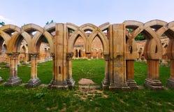 Gothic ruined cloister of San Juan de Duero Monastery Stock Photos