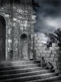 Gothic ruins 4. Dark ruins of an old gothic building Royalty Free Stock Photos