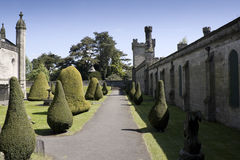 Gothic ruins in the british countryside. Gothic ruins of a palace in the british countryside Stock Images