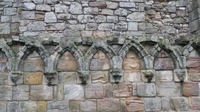 Gothic Ruins. Ruins of decorative arches from the Cathedral of St. Andrews in Scotland Royalty Free Stock Photos