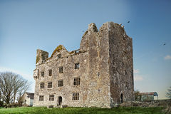 Gothic ruins. Gothic old building in Ireland, destroyed, damaged,ruins Stock Images