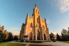 Gothic Saint Jacek stone church in Chocholow, bottom view. Stock Photography