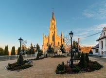 Gothic Saint Jacek stone church in Chocholow Stock Photo