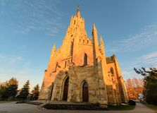 Gothic Saint Jacek stone church in Chocholow, side view. Royalty Free Stock Image