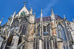Gothic Saint-Pierre-et-Saint-Paul Cathedral in Troye Stock Photo
