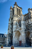 Gothic Saint-Pierre-et-Saint-Paul Cathedral in Troyes Stock Photos