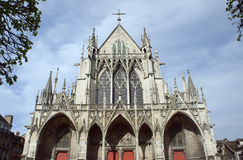 Gothic Saint-Urbain Basilica in Troyes Stock Photos