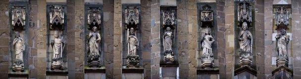 Gothic saints statues Royalty Free Stock Photo