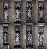 Gothic saints statues Stock Photos
