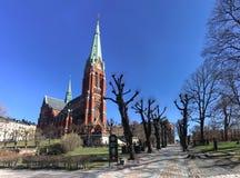 Gothic Sankt Johannes Kyrka Saint John Chrch in Stockholm, Sweden royalty free stock images