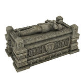 Gothic sarcophagus. 3D render of a gothic sarcophagus stock illustration