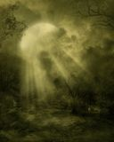 Gothic scenery 01. Gothic background for personal or commercial use stock illustration
