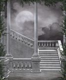 Gothic scenery 105. Gothic background for personal or commercial use royalty free illustration