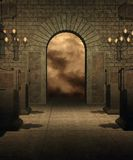 Gothic scenery 35. Gothic background for personal or commercial use stock illustration