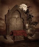 Gothic scenery 42. Gothic background for personal or commercial use stock illustration