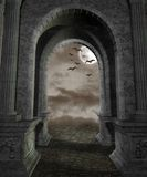 Gothic scenery 44. Gothic background for personal or commercial use royalty free illustration