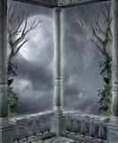 Gothic scenery 84. Gothic background for personal or commercial use Royalty Free Illustration