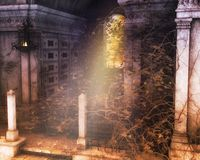 Gothic scenery tomb background royalty free stock image