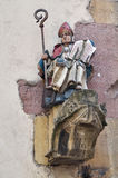 Gothic sculpture of a medieval saint man Stock Images