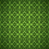 Gothic seamless green wallpaper Royalty Free Stock Photography