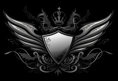 Gothic Shield Insignia 2 Royalty Free Stock Photo