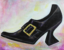 Gothic Shoe Painting Royalty Free Stock Photography