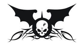 Gothic skull bat Royalty Free Stock Photography