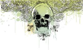 Gothic skull illustration Stock Image
