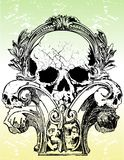 Gothic skulls illustrations Stock Image