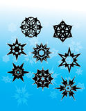 Gothic Snowflakes 1. A series of snowflake graphics with a fun Gothic twist Royalty Free Stock Photos