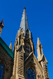 Gothic Spire into Clear Blue Sky Royalty Free Stock Photos