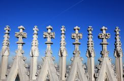 Gothic spires background royalty free stock photography