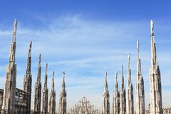 Gothic spires, cathedral of Duomo Royalty Free Stock Photography