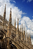 Gothic spires, Milan Cathedral Stock Photo